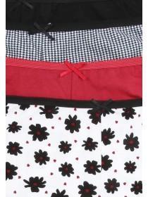 Womens 4PK Red Shorts