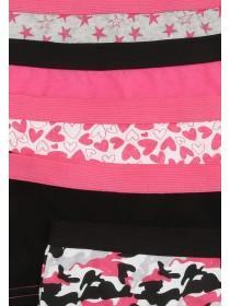 Girls 5pk Hot Pink Shorts