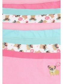 Girls 5pk Pink Short Briefs
