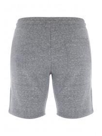 Mens Grey Textured Zip Detailed Sweat Shorts