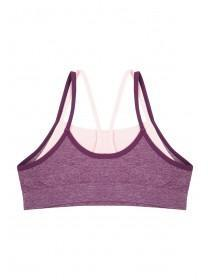 Older Girls Lilac Layered Crop Top