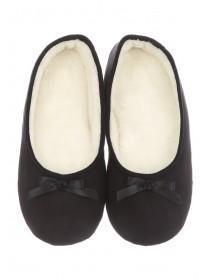 Womens Black Ballet Slippers