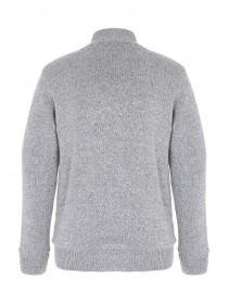Mens Funnel Neck Sherpa Knitted Jacket