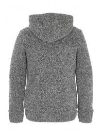 Mens Charcoal Sherpa Hooded Jumper