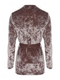 Womens Velvet Belted Jacket