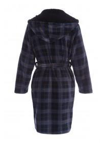 Mens Dark Blue Check Robe