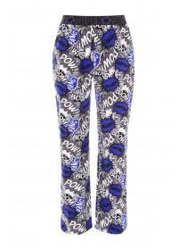 Mens Blue Comic Pyjama Bottoms