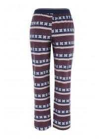 Mens Red Fleece Fairisle Pyjama Trousers