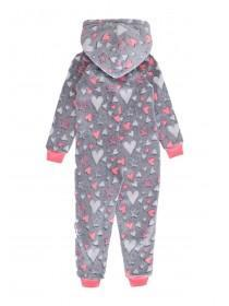 Girls Grey Star Onesie