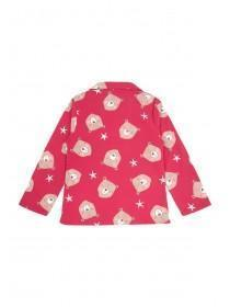 Girls Red Bear Pyjama Set