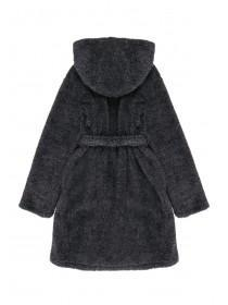 Boys Black Fluffy Dressing Gown