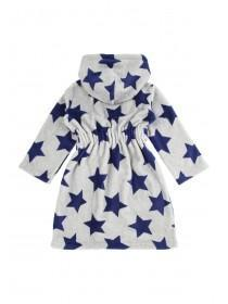 Boys Star Print Fluffy Robe