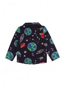 Younger Boys Dark Blue Space Pyjama Set
