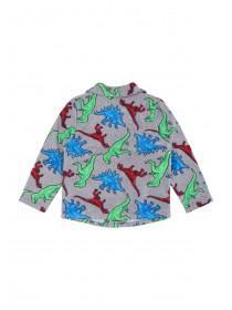 Younger Boys Grey Dinosaur Pyjama Set