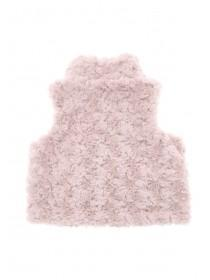 Baby Girls Pink Rose Fur Gilet