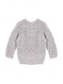 Younger Girls Grey Polar Bear Jumper