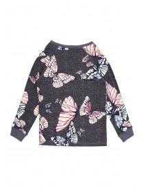Girls Butterfly Print Lounge Top