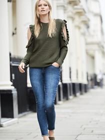 Womens Mid Blue Skinny Alexa Jeans