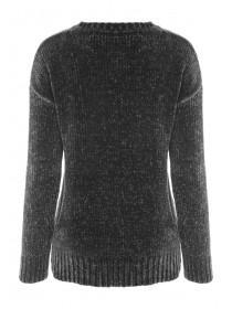 Womens Charcoal Chenille Jumper