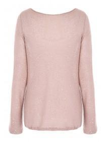 Womens Pale Pink Sequin Jumper