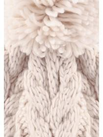 Womens Cream Cable Knit Beanie