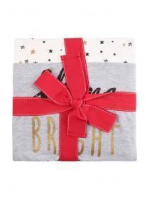 Womens Grey Star Pyjama Gift Set