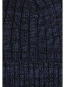 Mens Dark Blue Chunky Rib Hat