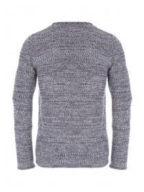 Mens Charcoal Textured Knit Jumper