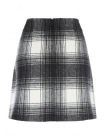 Womens Monochrome Check Skirt