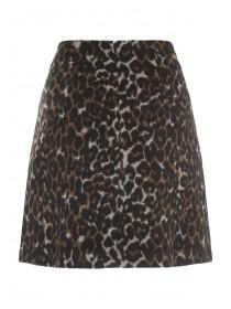 Womens Animal Print Skirt