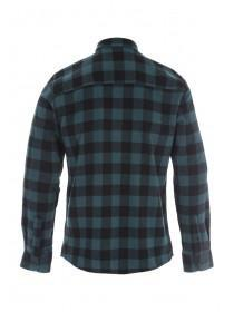 Mens Teal Check Flannel Shirt