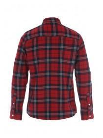 Mens Red Check Flannel Shirt