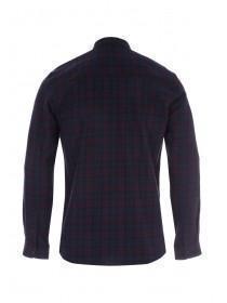 Mens Purple Check Flannel Shirt