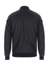 Mens Black Bomber Style Jacket