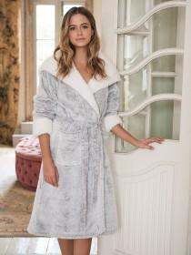 Womens Light Grey Dressing Gown