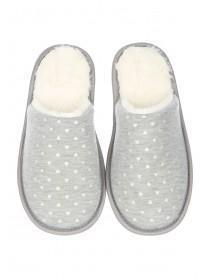 Womens Grey Closed Toe Spa Slippers