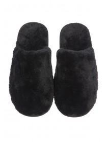 Womens Black Mule Slippers