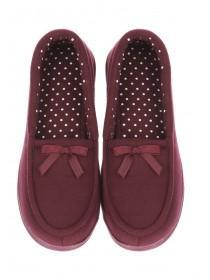 Womens Purple Moccasin Slipper