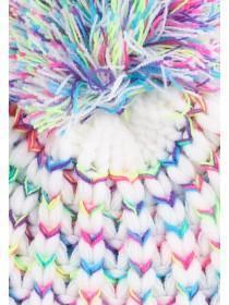 Older Girls Neon Pom Pom Hat