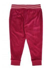 Younger Girls Berry Velour Joggers