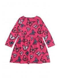 Younger Girls Pink Butterfly Dress