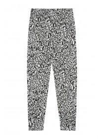 Older Girls Grey Leopard Leggings