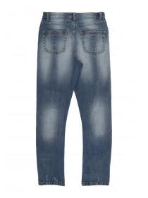 Older Boys Dark Blue Curved Leg Jean
