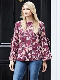Womens Purple Floral Top