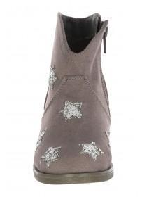 Younger Girls Grey Star Boots