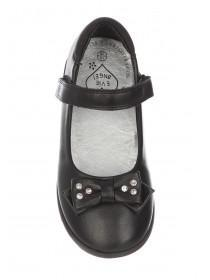 Younger Girls Black Back To School Mary Jane Shoes