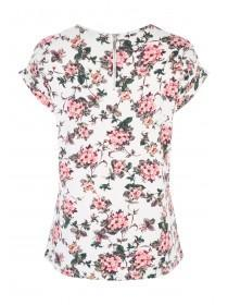 Womens Cream Zip Back T-Shirt