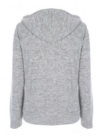 Womens Grey Zip Hoody