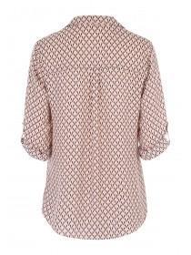 Womens Pink Geometric Shirt