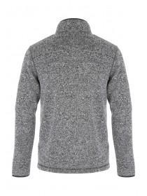 Mens Grey Zip Sweat Jacket
